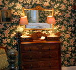 An unusual antique dresser welcomes you to the Florence Myrna Room.