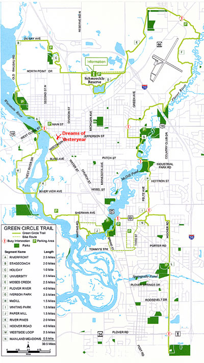 The Green Circle Trail - Biking and Hiking Trail in Stevens Point