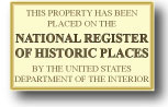 Our bed and breakfast is listed on the National Register of Historic Places