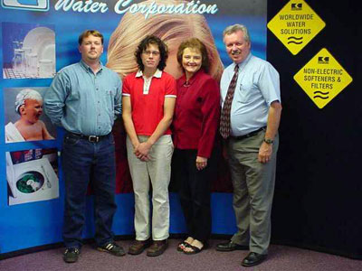 The water softener man and family.  From the right, my dad, mom, sister Danielle, and brother-in-law Sam.